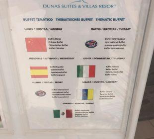 Buffet Plan Dunas Suites&Villas Resort