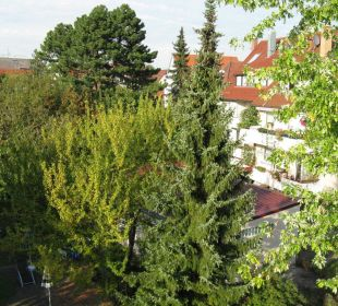 Aussicht vom Zimmer im Dachgeschoss Hotel Garni Körschtal
