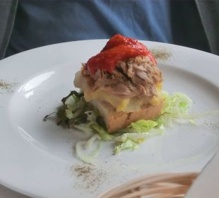 Vorspeise Thunfischtoast Hotel Ca'n Calco