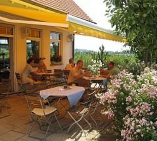 Terrasse Landgasthof Apfelblüte