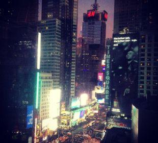 Widok Crowne Plaza Hotel Times Square Manhattan