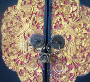 Eingang mit Türschloss Hotel Bali Agung Village
