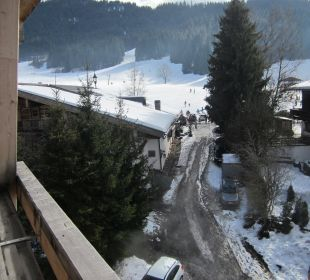 Pistenblick vom Balkon/3. Etage Sporthotel Ellmau