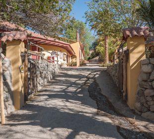 Auffahrt zu den Gebäuden Hacienda Los Andes