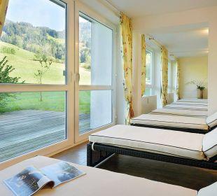 Ruheraum im Wellnessbereich mit Panoramablick Die Gams Hotel - Resort