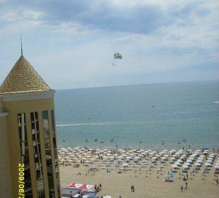 Blick vom Balkon Victoria Palace Hotel & Spa