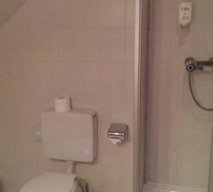 Dusche und WC Hotel Schmidt-Mönnikes
