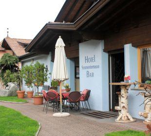 Eingang von Süden kommend Hotel Alpenhof Passeiertal