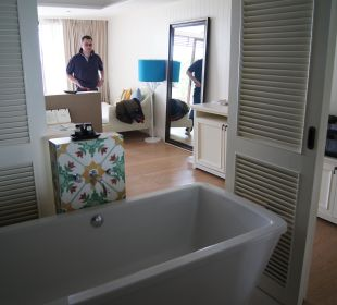 Offenes Bad mit Schiebetüren Hotel Rest Detail Hua Hin