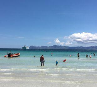 Weitläufiger Strand. Flach abfallend JS Hotel Sol de Alcudia