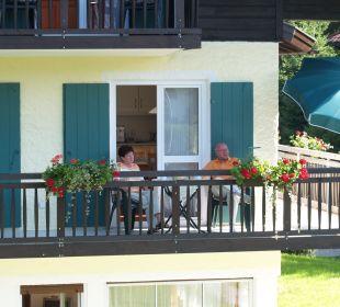 Frühstücken Sie auf den sonnigen Balkonen Oberstdorfer Ferienwelt
