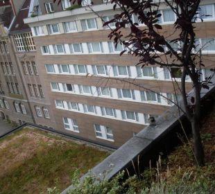 Spatzenbesuch am Fenster Hotel Crowne Plaza Berlin City Centre