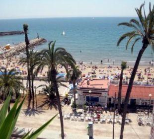 Ausblick von der Dachterrasse Hotel Platjador