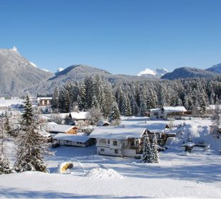 Blick Richtung Ahrnspitze im Winter Ferienhaus Adlerhof
