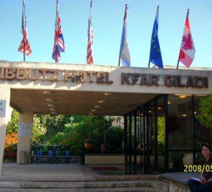 Eingang Kibbuz Hotel Kfar Giladi Kfar Giladi Kibbutz Hotel