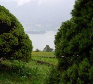 Blick zum See Alpenhotel Schliersbergalm