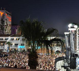Ausblick vom Zimmer, einfach perfekt! Ushuaia Ibiza Beach Hotel - The Tower / The Club