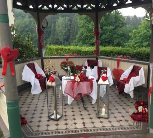 Romantischer Schmuck des Pavillon Romantischer Winkel SPA & Wellness Resort