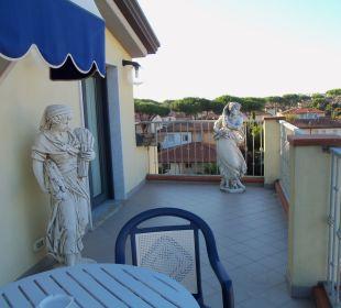Terrasse vom Zimmer aus Hotel Fortunella