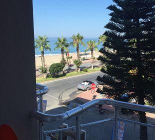 Blick aus dem Zimmer Kleopatra Melissa Hotel