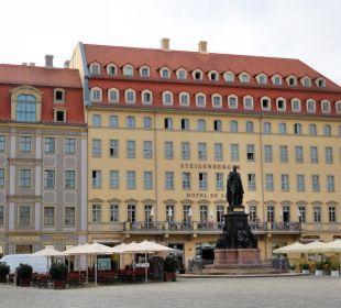 Blick vom Altmarkt Steigenberger Hotel de Saxe