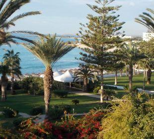 Blick durch den Garten Hotel Nissi Beach Resort