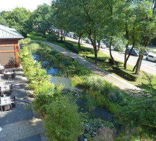 Blick aus unserem Fenster Lindner Park-Hotel Hagenbeck