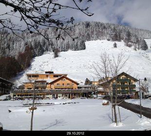 Erster Schnee im Oktober Hubertus Alpin Lodge & Spa