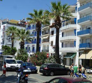 Blick vom Strand auf das Hotel Hotel Platjador