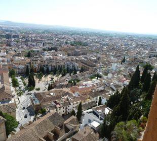 Blick aus dem Fenster Hotel Alhambra Palace