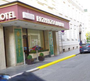 Eingang Mozartgasse Hotel Erzherzog Rainer