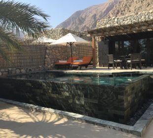 Ansicht vom Garten zur Villa Six Senses Spa At Zighy Bay