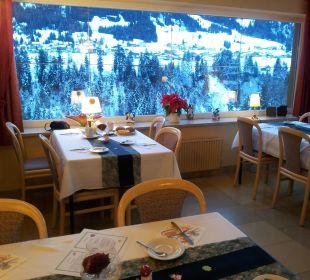 Aussicht beim Frühstück Hotel Bellevue