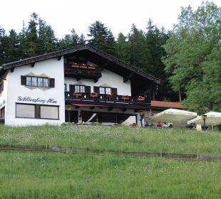 Hotel von außen Alpenhotel Schliersbergalm