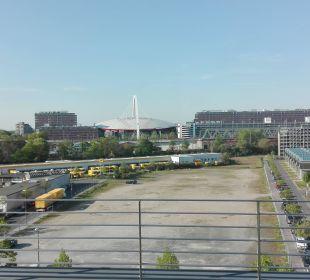 Aussicht Richtung Lanxess Arena Radisson Blu Hotel Köln