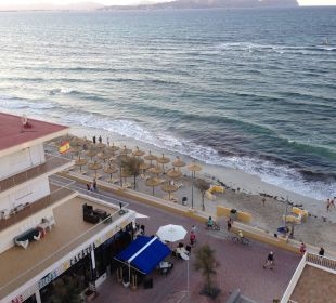 Ausblick vom Hotelzimmer  JS Hotel Miramar