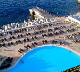 Blick auf Salzwasserpool Hotel The Cliff Bay (PortoBay)