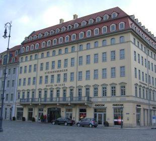 Auch von außen ein tolles Hotel Steigenberger Hotel de Saxe