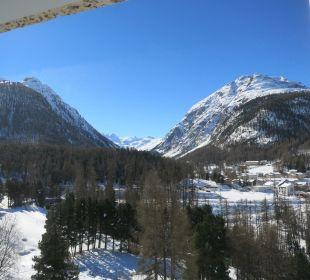 Blick aus dem Zimmer Hotel Saratz