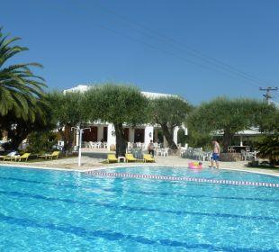Pool - im Hintergrund Poolbar Hotel Paradise Corfu