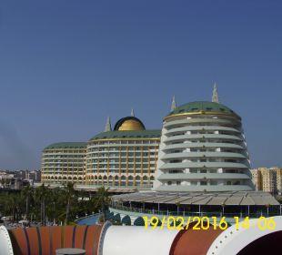 Vom Rutschenturm aus.. Hotel Delphin Imperial