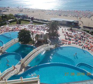 Widoczek z balkoniku. Victoria Palace Hotel & Spa