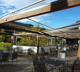 Terrasse mit Blick auf die Berge  Hotel Krallerhof