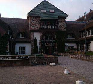 Eingang zum Hotel  Hotel Forsthaus Damerow