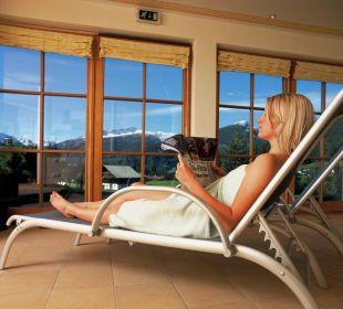 Aussicht aus dem Ruheraum Hotel Alpenhof Jäger