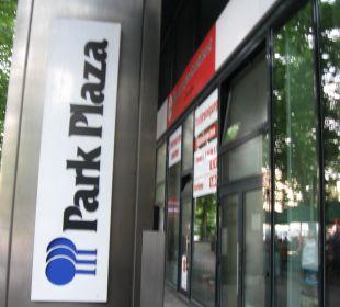Beschriftung des Hotels Park Plaza Prenzlauer Berg Berlin (geschlossen)