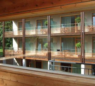 Blick zum Neubau Hotel Schwarzschmied
