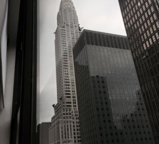 Chrysler Building seen from our room window. Hotel Westin New York Grand Central