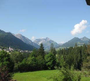 Ausblick vom Balkon Hotel Bellevue