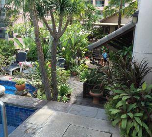 Garten auf dem Dach Hotel Siam Heritage
